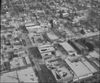 Aerial over downtown Rugby, N.D. in winter