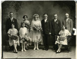 Frank and Alvina (Henke) Hoppe wedding group