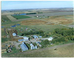 Aerial view of Bill and Alice Rahlf family farm, Griggs County, North Dakota