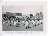 Hettinger Cowboy Band marching, Mott, North Dakota