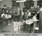 Postal employees in post office, Williston, N.D.