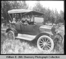 Family in automobile, Williston, N.D.