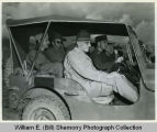 Colonel Danah, General Stilwell and others in a Jeep, China