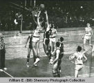 Williston Coyotes versus Grand Forks Redskins, 1963 North Dakota Class A basketball tournament,...