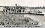 Group on dock, Williams County, N.D.