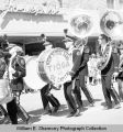 Band Day parade 1965, Tioga High School band, Williston, N.D.