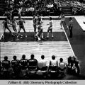 Williston Coyotes versus St. Mary's Saints at 1972 State Class A basketball tournament, Bismarck,...
