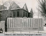 World War II Servicemen List outside old Courthouse, Williston, N.D.