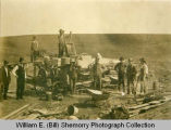 Beginning of construction of Irrigation Power Plant, Northeast of Williston, N.D.
