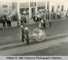 Tioga Fire Department, Soda Acid Cart in Parade, Williston, N.D.