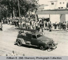 "Tioga Fire Department, ""Old Betsy"" in parade, Tioga, N.D."