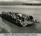 Mendenhall Ferry, First Tioga Ferry Dedication, south of Tioga, N.D.
