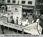 Tioga Farm Festival 1940s, Williams County Press float, N.D.