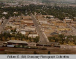 Williston aerial photograph, downtown, N.D.