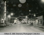 Williston, Downtown Night Shot Looking South, N.D.