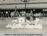 American Legion State Convention Parade, GFWC Betsy Ross Float, Williston, N.D.