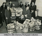 Williston Lions with food to distribute to needy families, Williston, N.D.