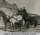 Hook and Barney with New Williston Fire Department Truck, N.D.
