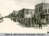 American Legion State Convention Parade, National Guard Marching, Williston, N.D.