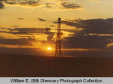 Treffrey oil well with sunset, N.D.
