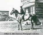 Stusrud boy on Horse, Montrose, N.D.