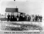 Gathering at Mrs. Ackre's, Wildrose, N.D.