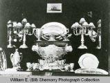 U.S.S. North Dakota silver dining set