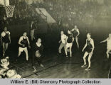 """Fats"" versus ""Thins"" basketball game, Williston, N.D."