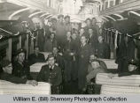 Williston Army members on train