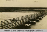 Pontoon bridge, Wolf Point, Montana