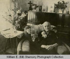Unidentified woman inside home, Williston, N.D.
