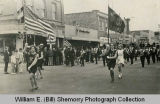 Kenmare High School band in parade, Williston, N.D.