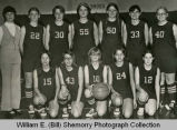 Girls basketball team portrait