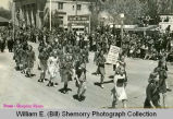 Girl scouts in parade, Williston, N.D.