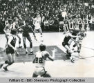 Williston Coyotes versus Minot Senior High School, basketball game, Minot, N.D.