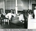 Williston Press-Graphic reporter in office, N.D.