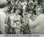 Williston Coyotes accept 1975 Class A trophy, North Dakota