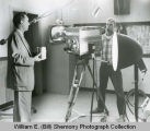 Television commercial filming, Williston, N.D.