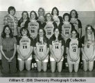 Powers Lake Ranchers girls' basketball team portrait