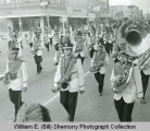 Marching band in Williston parade, N.D.