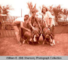 Fall Festival 1947, 4-H Hog exhibit, Williston, N.D.