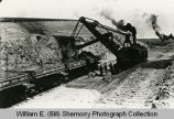 Wild Cow Railroad, steam shovel working, McKenzie County, N.D.
