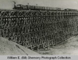 Wild Cow Railroad, the Gassman railroad trestle, McKenzie County, N.D.
