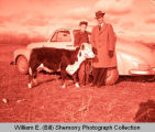 Gerald Olson is given purebred calf by Williston Moose Club, Williston, N.D.