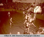Williston Coyotes versus Minot Magicians basketball game, Williston, N.D.