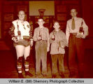 Winners and trophies, independent and grade basketball, Williston, N.D.