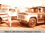 Williston's 25th Anniversary of Oil Discovery Celebration, Clarence Iverson #1 float, N.D.