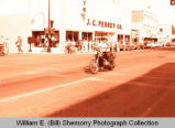 Williston's 25th Anniversary of Oil Discovery Celebration, police officer on motorcycle, N.D.