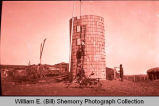 Silo and farmers, N.D.