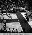 Williston Coyotes versus St. Mary's Saints at 1972 State Class A basketball tournament, Bismarck, N.D.